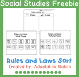 Rules vs. Laws Sorting Activity-Freebie!