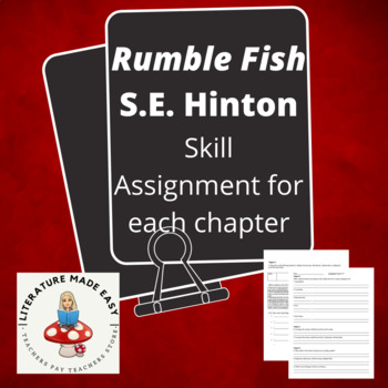 Rumble Fish Reading Guides / Worksheets - common core skil
