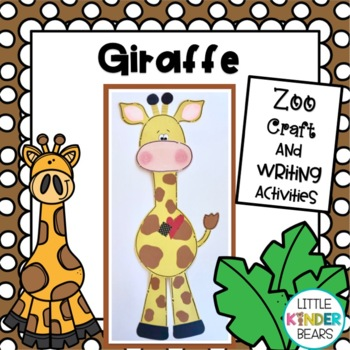 Rumble in the Jungle! Giraffe Craft & Writing Activities or Zoo Craft