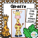 Jungle and Zoo Giraffe Craft & Writing Activities