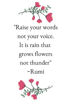 Rumi Communication Quote Poster