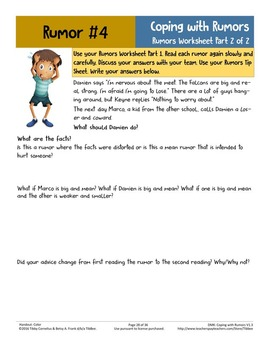 Decision Making for Kids: Rumors: Coping with Rumors