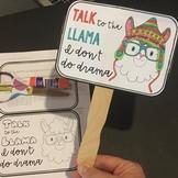 Drama Llama Gossip Craft & Presentation