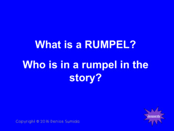 Rump The True Story of Rumpelstiltskin by Liesl Shurtliff Jeopardy