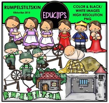 Rumpelstiltskin Clip Art Bundle {Educlips Clipart}