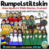 Rumpelstiltskin Clip Art for Personal and Commercial Use