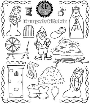 Rumpelstiltskin Fairytale Clipart Set {KT Creates Original}