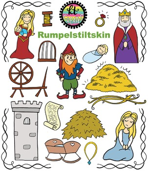 Rumpelstiltskin Fairytale Clipart Set {KT Creates Original}