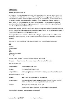 Rumpelstiltskin play or guided reading text or Readers Theater
