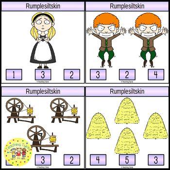 Rumplestiltskin Fairy Tales  Count and Clip Task Cards