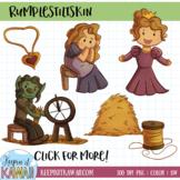 Rumplestiltskin Fairy Tale Clip Art Set