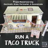 Run A Taco Truck, Project Based Learning (PBL) For Print or Distance Learning