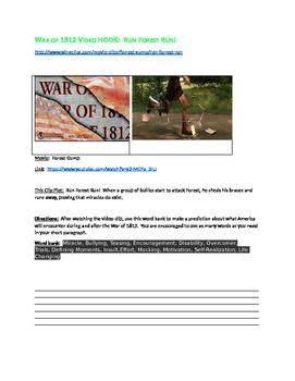 Run Forest Run!  War of 1812 Movie Hook