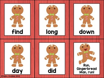 Run, Gingerbread Man, Run! A FREE Sight Word Game