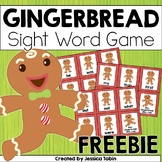 Gingerbread Freebie- Gingerbread Sight Word Activity
