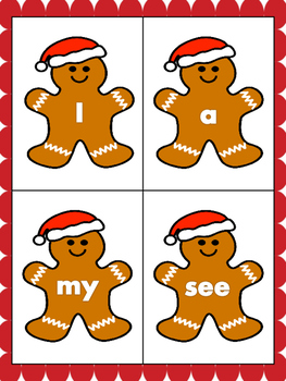 Run Gingerbread Run! Sight Word Game