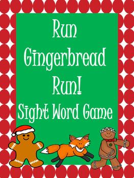 Run Gingerbread Run! Sight Word Game
