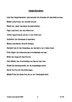 Run Lola Run-German Study Guide