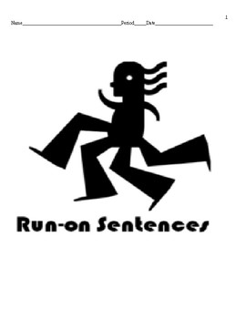Run-On Correction Review and Worksheet