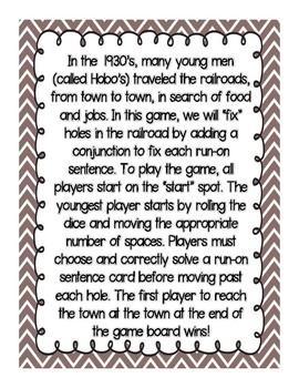 Run-On Railroad Repair Game