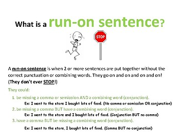 Run-On Sentence Poster