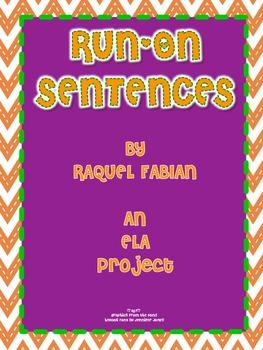 Run-On Sentences ELA Project (Common Core L.2.1 & L.2.2)