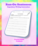 Run-On Sentences (Hochman Method Aligned Resource for Elementary School)