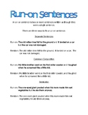 Run-On Sentences Practice Notes