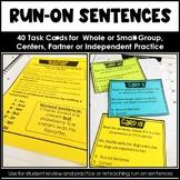 Distance Learning Run-On Sentences Task Cards Google Classroom