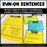 Distance Learning Run-On Sentences Task Cards Google Classroom