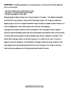 Run-On-Sentences Worksheet