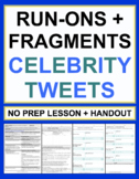 Run On Sentences and Fragments Celebrity Tweets Grammar Wo