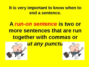 Run-On Sentences for Visual Learners