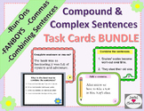 Compound and Complex Sentences Task Cards MEGA Bundle