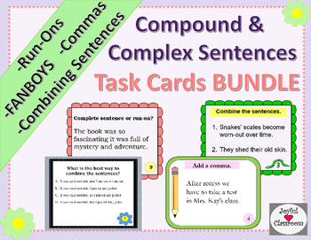 Compound and Complex Sentences Task Cards MEGA Bundle