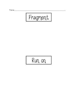 Run Ons and Fragments Review