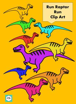 Run Raptor Run-Clip Art