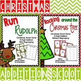 Christmas Math: Addition Scoot Games with Regrouping