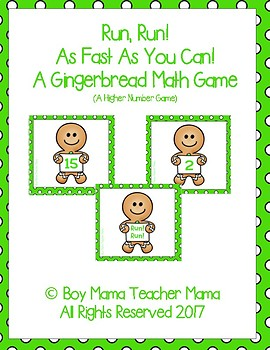 Run! Run! A Gingerbread Themed Higher Number Game