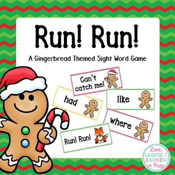 Run! Run! A gingerbread man themed sight word game