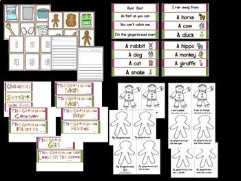 Gingerbread Man Math, Literacy And Writing!