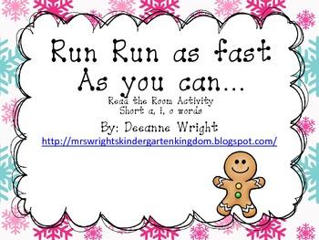 Run Run Read the Room!! Short a, i, o