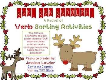 """Run, Run Rudolph!"" 4 CC-Aligned VERB Center Activities"