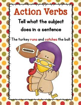 Run, Turkey, Run!--A Differentiated Mini-Verb Unit for Little Learners