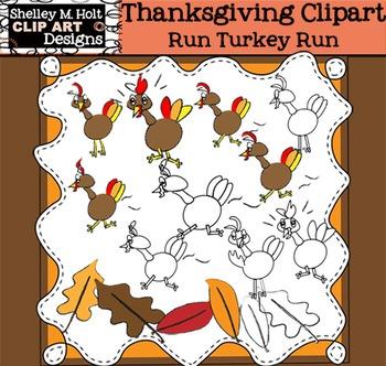 Run Turkey Run Clip Art - Commercial or Personal Use