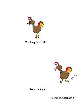 Run Turkey Run Emergent Reader