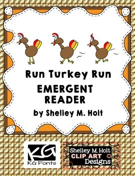 Run Turkey Run Emergent Reader