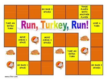 Run, Turkey, Run!  Games, Activities and Party Ideas for Thanksgiving Time