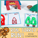 Run, Turkey, Run! Thanksgiving Speech Therapy Book Companion NOW WITH BOOM Cards