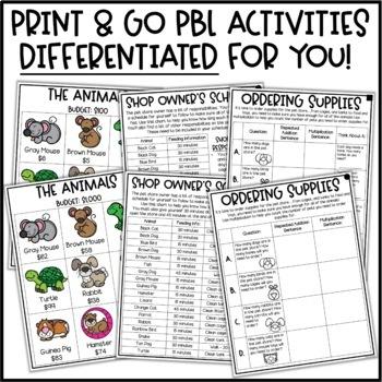 PBL Math Enrichment Project - Run a Pet Store